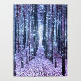 Magical Forest Lavender Ice Blue Periwinkle Poster