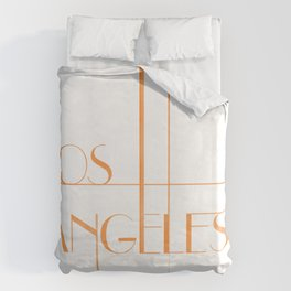 Los Angeles Deco Print Duvet Cover