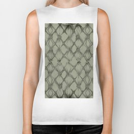 Braided Diamond Simply Green Tea Biker Tank