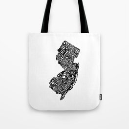 Typographic New Jersey Tote Bag