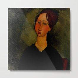 "Amedeo Modigliani ""Little Servant Girl"" Metal Print"