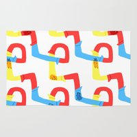 hamster Area & Throw Rugs featuring Hamster tube fun time by stephasocks