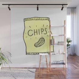 Cute candy and ice-cream pattern Wall Mural