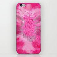 poem iPhone & iPod Skins featuring pink poem  by sladja