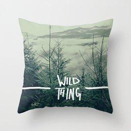 Wild Thing: Skagit Valley, Washington Throw Pillow
