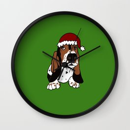 A Basset Full of Christmas Wall Clock