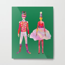 Nutcracker Ballet - Candy Cane Green Metal Print