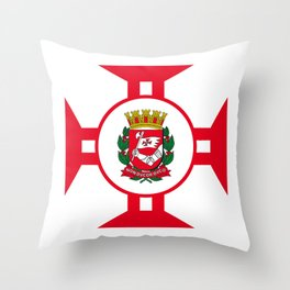 Flag of Sao Paolo -  Non ducor, duco Throw Pillow