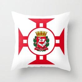 Flag of Sao Paolo -  Non ducor, duco Throw Pillow