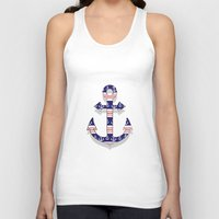 anchors Tank Tops featuring anchors by Manoou