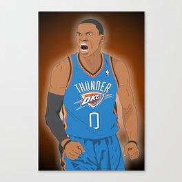 Oklahoma Thunder - Russell Westbrook Canvas Print