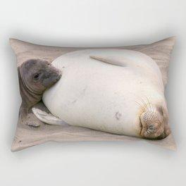 Nursing Elephant Seal Rectangular Pillow