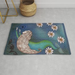 The Mermaid's Lake--Finding the Blue Flower Rug