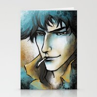 "bebop Stationery Cards featuring Cowboy Bebop - Spike Spiegel by Barbara ""Yuhime"" Wyrowińska"