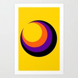 Psychedelic Sun Art Print