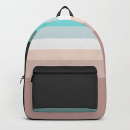 Charcoal, blue and pink pastel blend Backpack