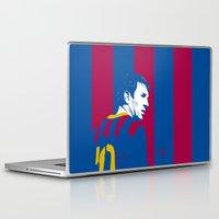 messi Laptop & iPad Skins featuring Messi Barcelona by lockerroom51