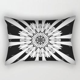 Bold Black and White Stripe Modern Star Design Rectangular Pillow