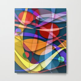 Abstract #358 Metal Print
