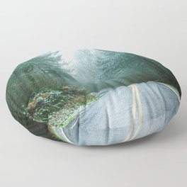 Forest Road Trip Floor Pillow