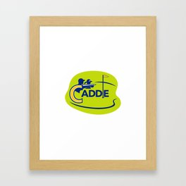 Caddie and Golfer Golf Course Icon Framed Art Print