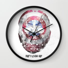 Yankee Mask Wall Clock