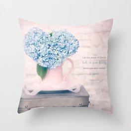 Hydrangea Heart* Throw Pillow