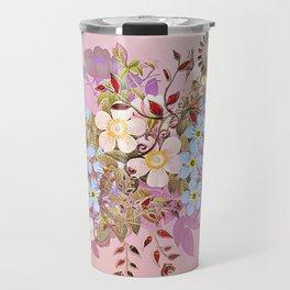 Sweet pastel pink flowers Travel Mug