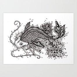 Zen Koi Art Print