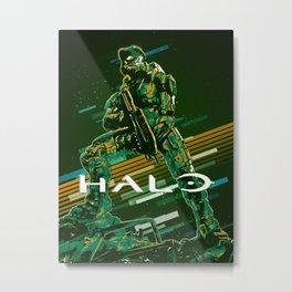 Halo retro art Metal Print