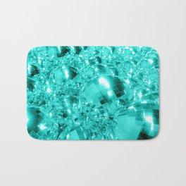 Aqua Blue Ornaments Bath Mat