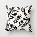 Black Palm Leaves Pattern by lifeidesign