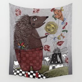 It's a Hedgehog! Wall Tapestry