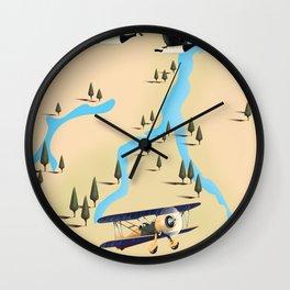 Lake Como Italy Travel Poster. Wall Clock