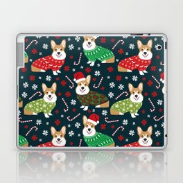 Corgi christmas sweater ugly sweater party with welsh corgis dog lovers dream christmas Laptop & iPad Skin
