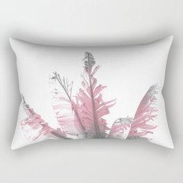 Pink Banana Leaves Rectangular Pillow