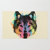 child Area & Throw Rugs featuring Wolf Child by Zach Terrell