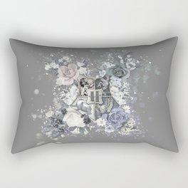 Hogwarts Crest Distressed Rectangular Pillow