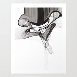 Smoky Noir Art Print