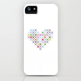 Colored heart iPhone Case