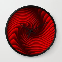 Abstract red 229 Wall Clock