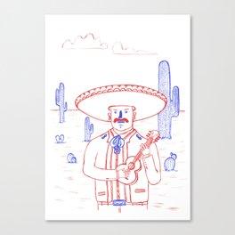 Mariachi in the Desert Canvas Print