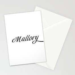 Name Mallory Stationery Cards