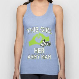 THIS GIRL LOVES HER ARMY MAN Unisex Tank Top