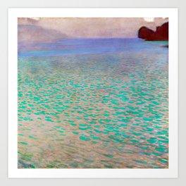 Klimt - Lake Attersea (new editing) Art Print