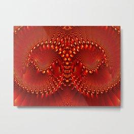 Red Copper Gem Horns Metal Print