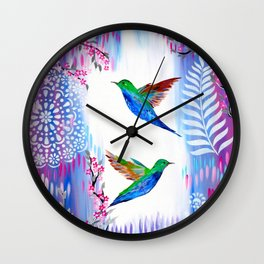 Our Paths Entwined Wall Clock