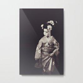 Geisha-Musume Metal Print