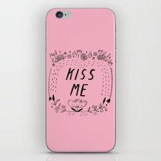 Kiss Me - Pink iPhone & iPod Skin