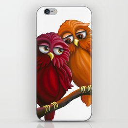 Rainbow Owls iPhone Skin